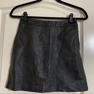 Topshop Faux Leather Skirt with Pockets